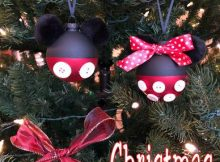 Mickey and Minnie Christmas ornaments