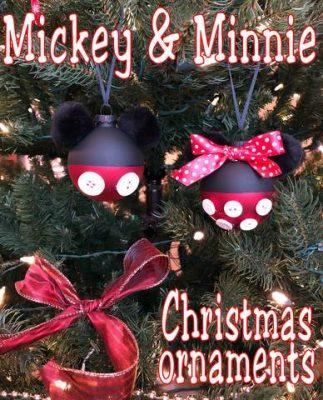 Diy Mickey And Minnie Christmas Ornaments Disney Crafts