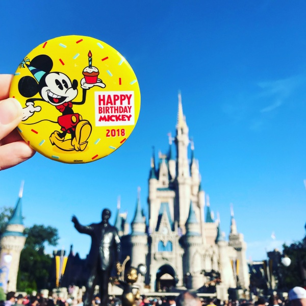 Mickey's 90th Birthday Button