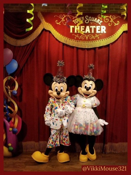 Mickey and Minnie celebratory outfits
