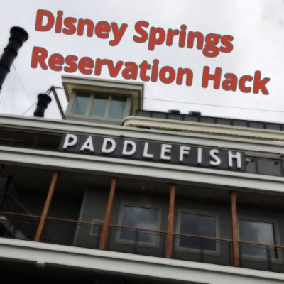 Disney Springs Reservation Hack