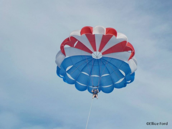 Parasailing on Castaway Cay