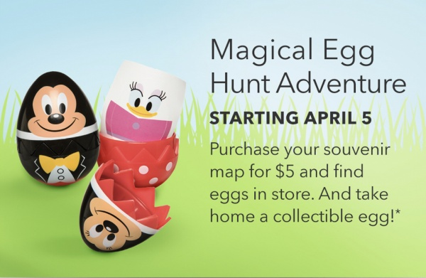 Egg Hunt at Disney Stores for $5