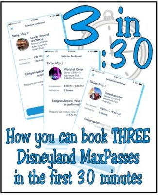 How to book three MaxPasses in the first 30 minutes