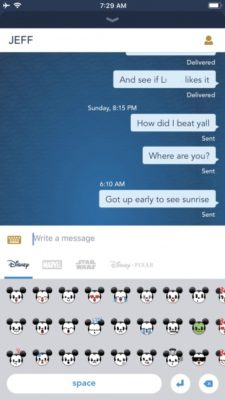 text with anyone onboard your Disney Cruise