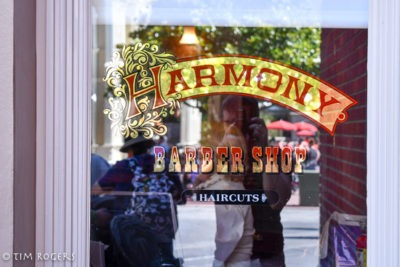 Harmony Barber Shop window