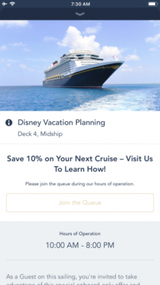 Plan your next DCL cruise while on your current cruise