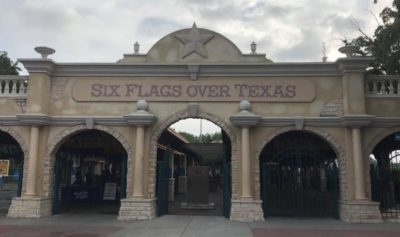 Arriving at Coasting for Kids at Six Flags over Texas