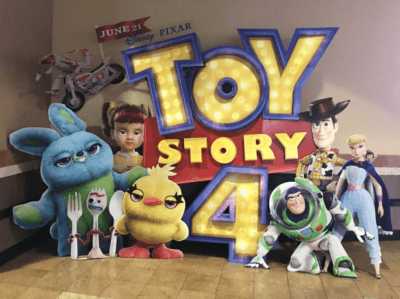 Movie theater display for Toy Story 4