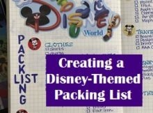 Disney Packing List Title