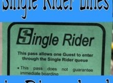 Single Rider Lines in Disneyland