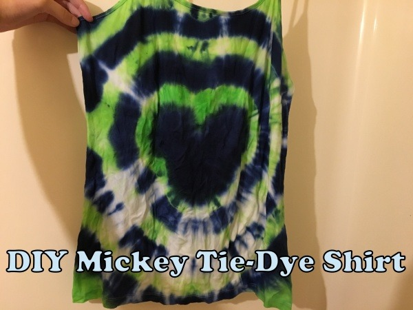 DIY Mickey Tie-Dye Shirt