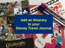 Add an Itinerary to your Disney Travel Journal