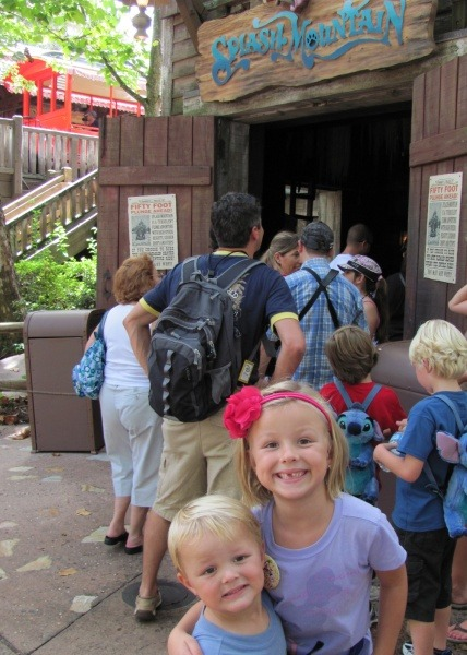 Short lines at Splash Mountain in Walt Disney World