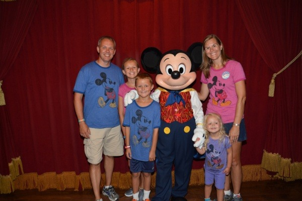 Visiting Mickey Mouse in Magic Kingdom at Disney World