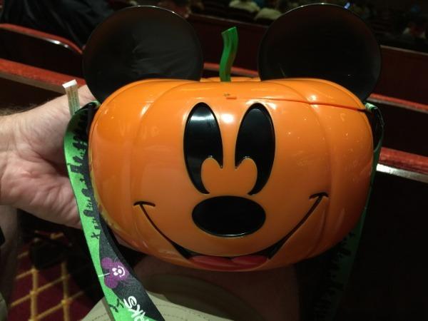 Halloween on the High Seas Mickey pumpkin popcorn bucket |  Disney's Halloween on the High Seas cruise
