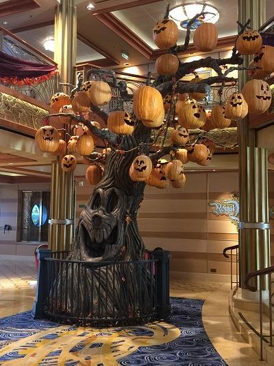 Disney's Halloween on the High Seas cruise haunted tree | Disney's Halloween on the High Seas cruise