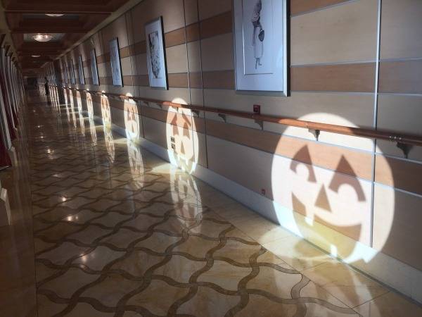 Jack-o-lantern windows on the Disney Dream | Disney's Halloween on the High Seas cruise