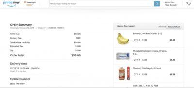 Amazon Prime Now List