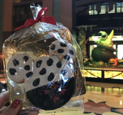 Delicious cookie at Grand Californian  | Oogie Boogie