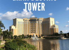 Grand Destino Tower overlooking lake