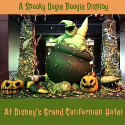 Spooky display at Grand Californian | Oogie Boogie