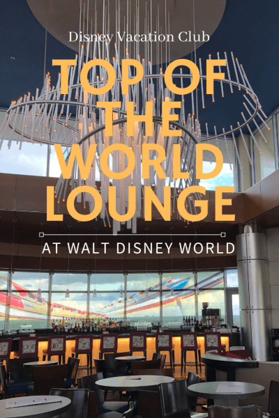 Disney's Top of the World Lounge chandelier and seating exclusively for DVC members