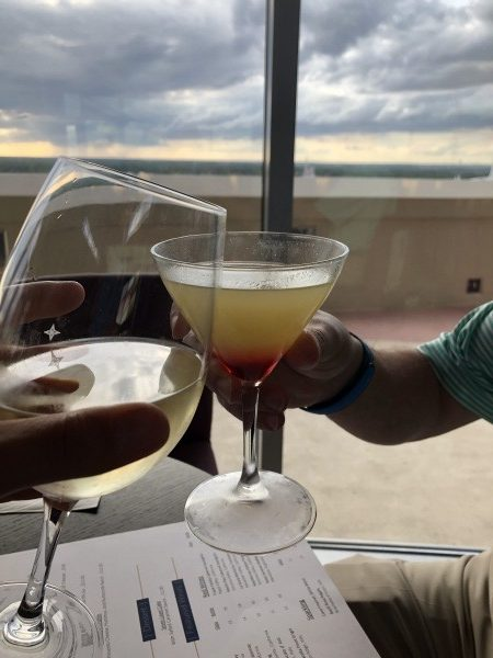 Drinks with a view at Top of the World Lounge in Walt Disney World