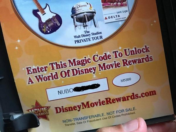 Disney DVD insert