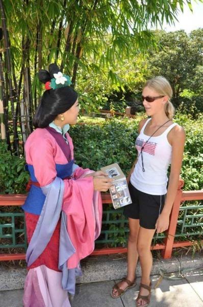 Mulan autograph | DIY Disney autograph book