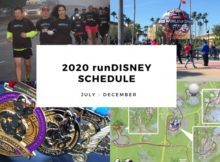 2020runDisney Calendar