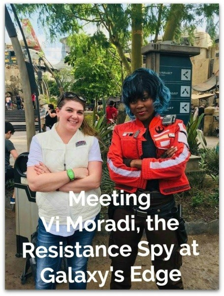 Meeting Vi Moradi, the Resistance Spy at Galaxy's Edge