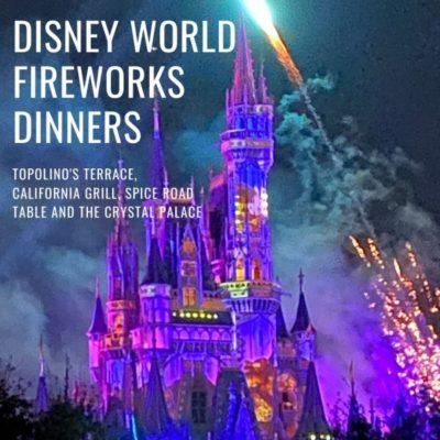 Disney Fire Works Dinners