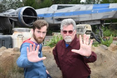 Father and Adult Son Disney World Trip Star Wars