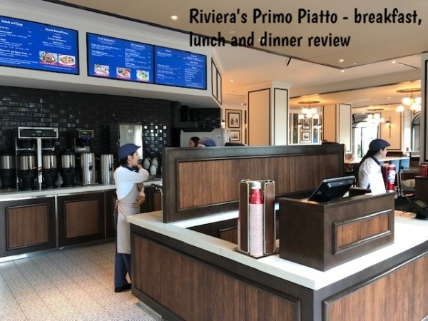 Riviera Primo Piatto cashier and beverage station