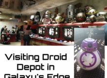 Visiting Droid Depot in Galaxy's Edge