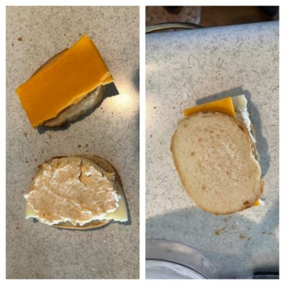 Assembly of Sandwiches - Grilled Three-Cheese