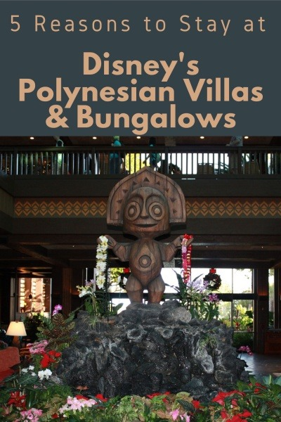 Tiki Man with 5 Reasons to Stay at Disney's Polynesian Villas