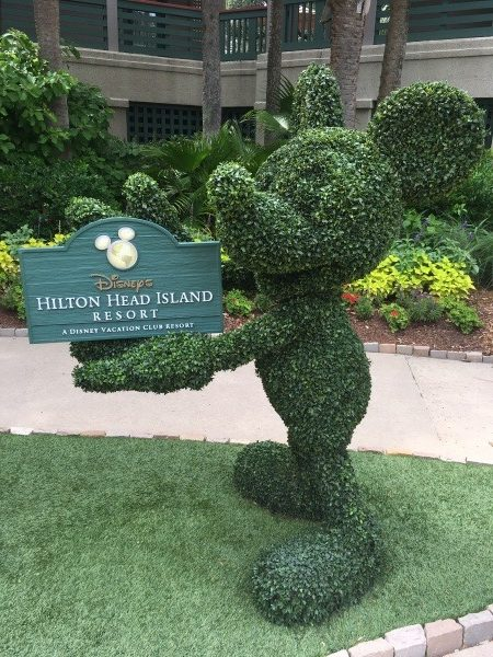 Mickey welcomes guests to Disney's Hilton Head Island Resort