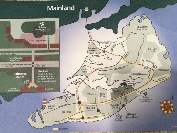 Disney's Hilton Head Island Resort Map