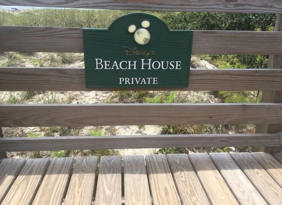 Sign for Beach House