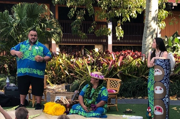 Storytelling during a stay at Disney's Polynesian Resort and Villas