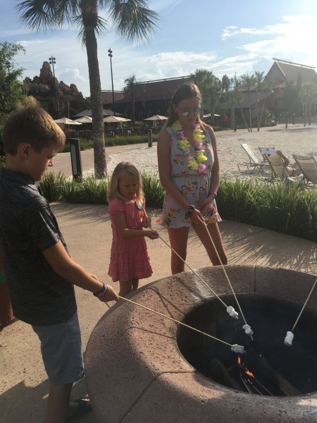 Roasting Marshmallows at Polynesian Resort