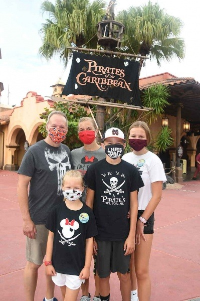 Family Wearing Masks in Magic Kingdom   Five Things to Add to Your Disney Packing List