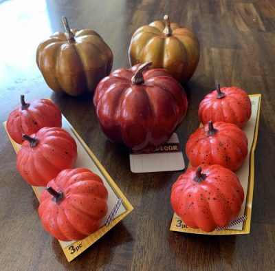 Metallic Mickey pumpkin craft