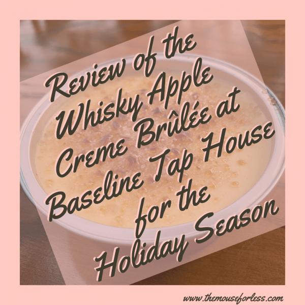 Whisky Apple Crème Brulee