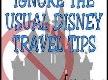Ignore the usual Disney travel tips