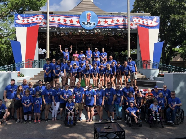 Participants at Six Flags over Texas in 2019