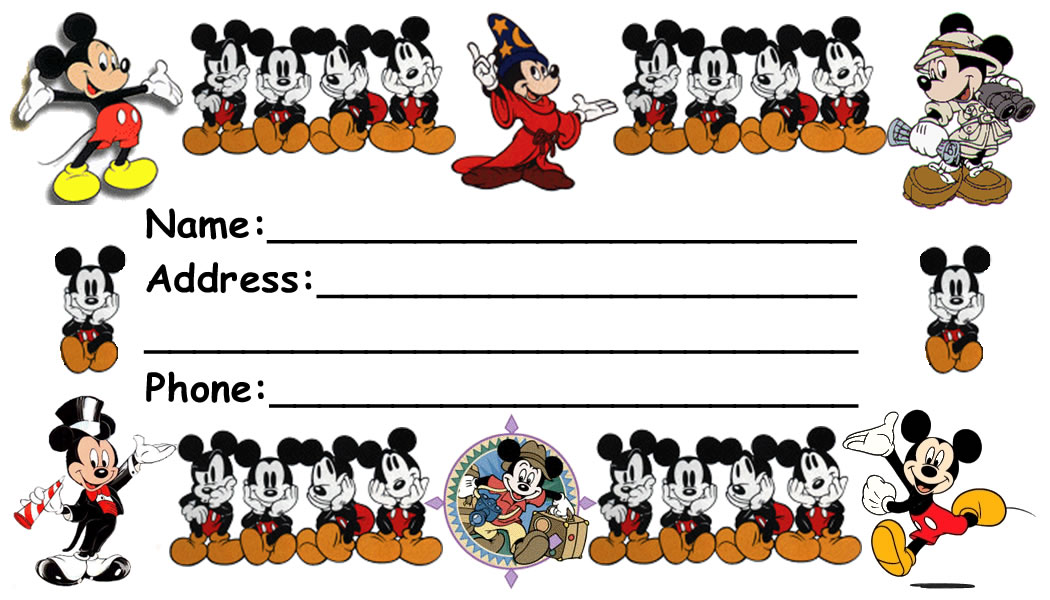 Disney Luggage Tags Page 1 Of 3 Download And Print Po