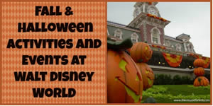 WDW Fall and Halloween Activities